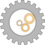 A cog wheel symbolizing the technical nature of this article